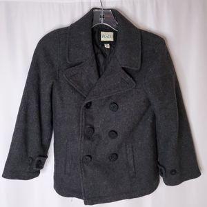 Children's Place gray peacoat jacket sz M